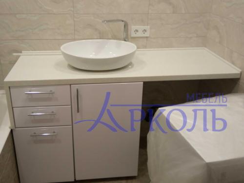 Столешница из искусственного камня в ванную фото 1