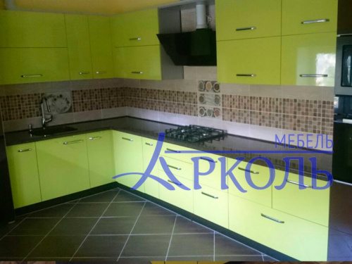 Кухня глянец-Кухня МДФ пластик «Модель 4»-фото 1