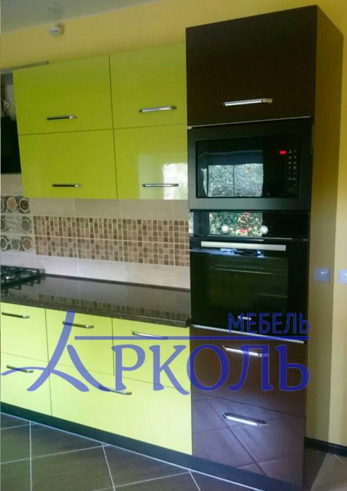 Кухня глянец-Кухня МДФ пластик «Модель 4»-фото 8