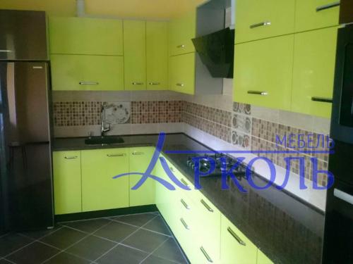 Кухня глянец-Кухня МДФ пластик «Модель 4»-фото 2