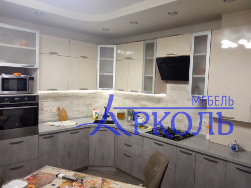 Кухня МДФ-Кухня МДФ Пластик «Модель 28»-фото 1