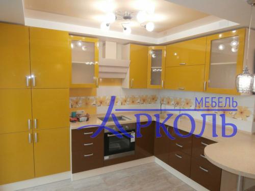 Кухня глянец-Кухня МДФ эмаль «Модель 1»-фото 5