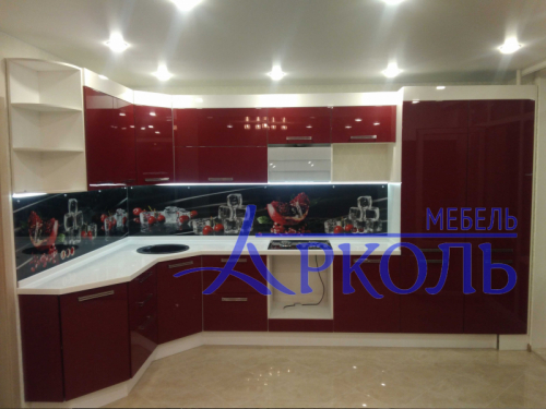 Кухня глянец-Кухня МДФ эмаль «Модель 7»-фото 1