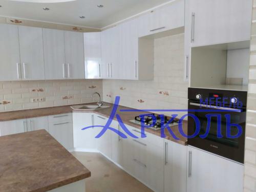 Кухня глянец-Кухня МДФ пластик «Модель 13»-фото 1