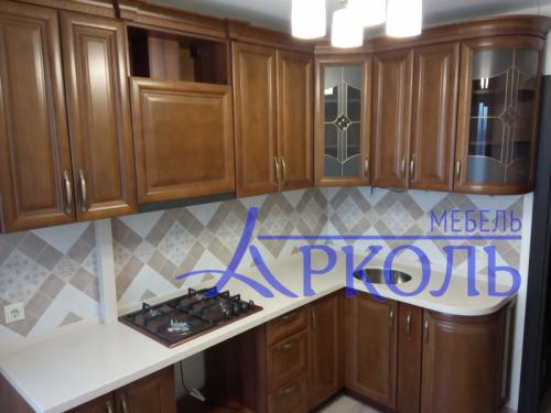 Деревянная кухня Модель 41 фото 1