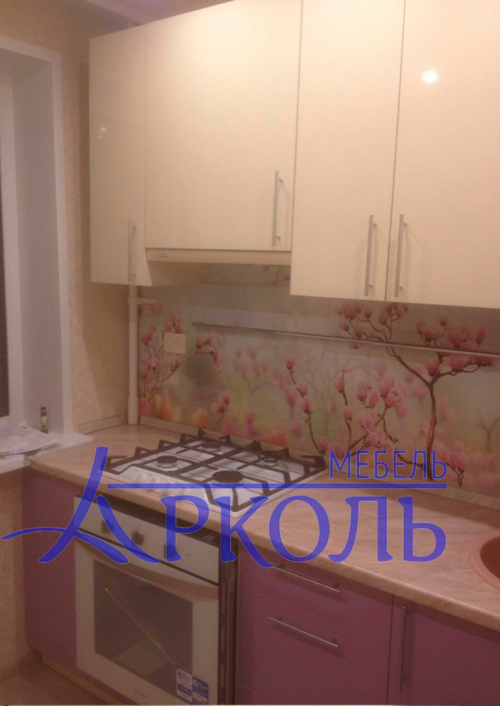 Кухня глянец-Кухня МДФ пластик «Модель 17»-фото 1