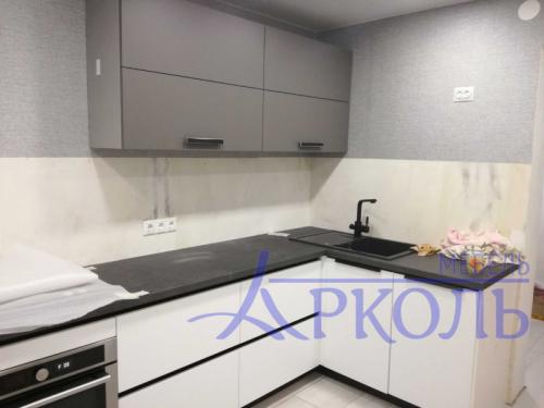 Кухня матовая-Кухня МДФ Акрил «Модель 19»-фото 1
