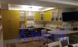 Кухня глянец-Кухня МДФ эмаль «Модель 1»-фото 1