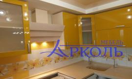 Кухня гляне-Кухня МДФ эмаль «Модель 1»-фото 4