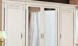 Шкаф белая патина