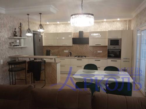 Кухня глянец-Кухня МДФ акрил «Модель 8»-фото 1